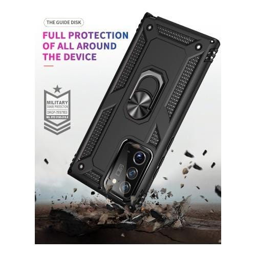 SaharaCase - Military Kickstand Series Case for Samsung Galaxy Note20 Ultra - Black - Sahara Case LLC