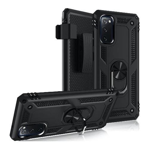 SaharaCase - Military Kickstand Series Case - Galaxy S20 FE - Black - Sahara Case LLC