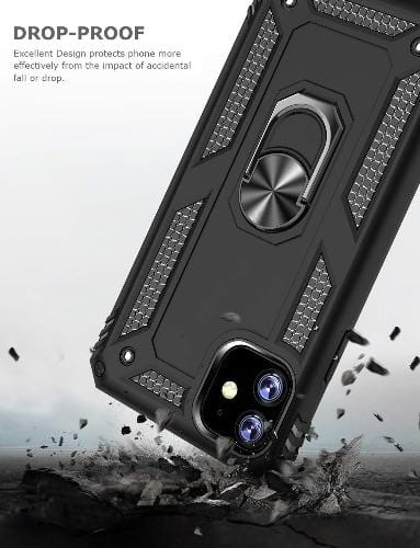 "SaharaCase Military Kickstand Series Case iPhone 11 6.1""- Black - Sahara Case LLC"
