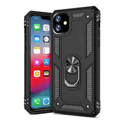 "SaharaCase - Military Kickstand Series Case - iPhone 11 6.1"" - Scorpion Black - Sahara Case LLC"