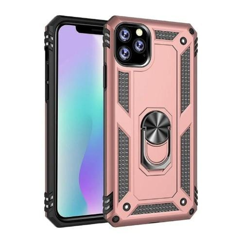 "SaharaCase - Military Kickstand Series Case - iPhone 11 Pro 5.8"" - Rose Gold - Sahara Case LLC"