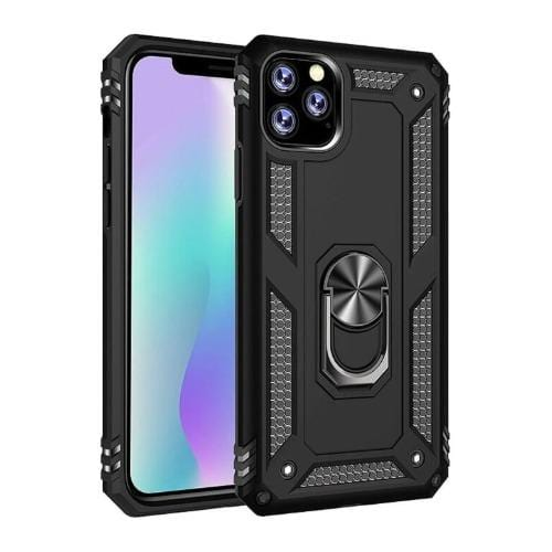 "SaharaCase - Military Kickstand Series Case - iPhone 11 Pro 5.8"" - Scorpion Black - Sahara Case LLC"
