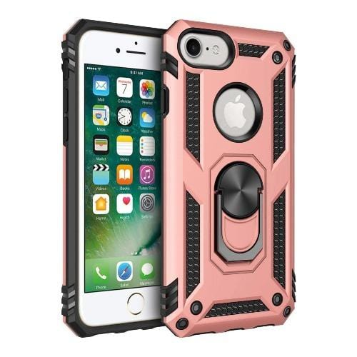 SaharaCase - Military Kickstand Series Case - iPhone SE(Gen 2) 2020 - Rose Gold - Sahara Case LLC
