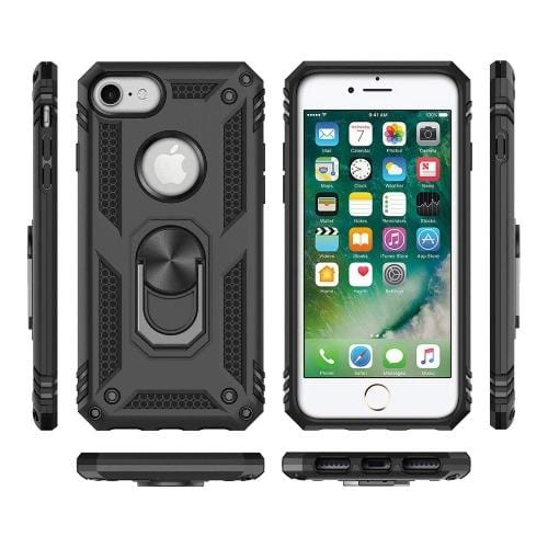 SaharaCase - Military Kickstand Series Case - iPhone SE(Gen 2) 2020 - Scorpion Black - Sahara Case LLC