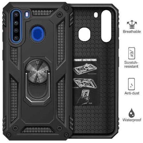 SaharaCase - Military Kickstand Series Case - Samsung Galaxy A21 - Sahara Case LLC