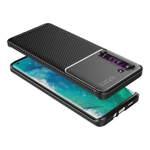 SaharaCase - Prestige Series Case for Motorola Moto Edge 5G - Black - Sahara Case LLC