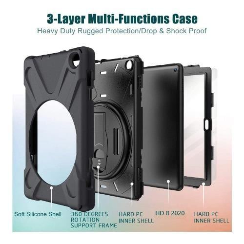 SaharaCase - Protective Case - for Amazon Kindle Fire HD 8 2020 and HD 8 Plus 2020 - Clear - Sahara Case LLC