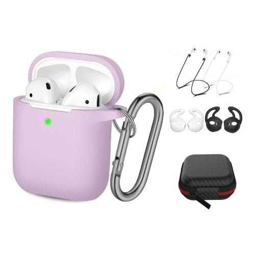 SaharaCase Protective Case Kit for Airpods 1 & 2 - Lavender - Sahara Case LLC