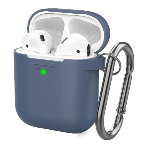 SaharaCase Protective Case Kit for Airpods 1 & 2 - Navy Blue - Sahara Case LLC
