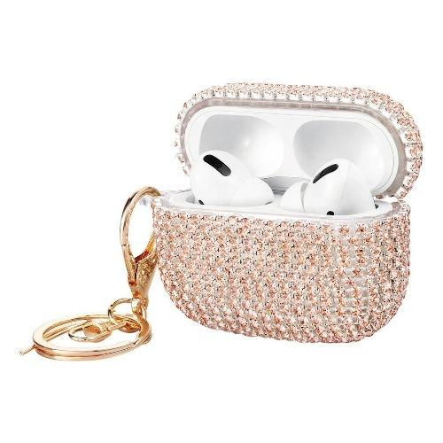 SaharaCase - Rhinestone Case Apple Airpods Pro - Gold - Sahara Case LLC