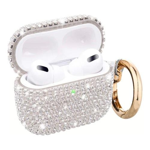 SaharaCase - Rhinestone Case Apple Airpods Pro Silver - Sahara Case LLC