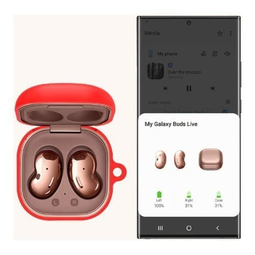 SaharaCase - Silicone Case for Samsung Buds Live - Red - Sahara Case LLC