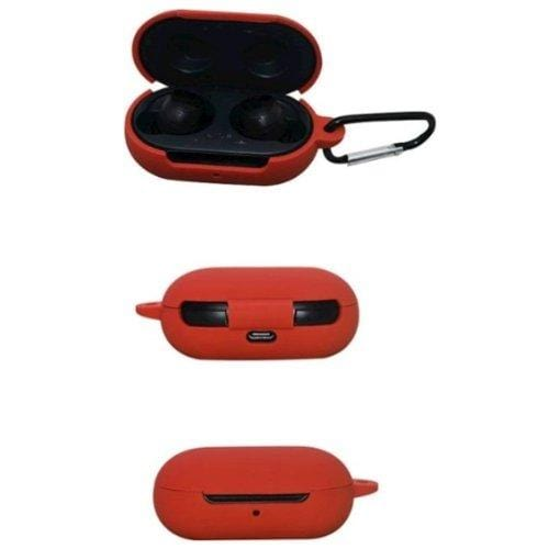 SaharaCase - Silicone Case for Samsung Galaxy Buds and Buds+ - Fire Red - Sahara Case LLC