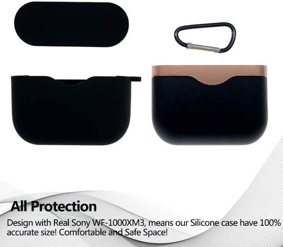 SaharaCase - Silicone Case for Sony WF-1000XMS True Wireless - Scorpion Black - Sahara Case LLC