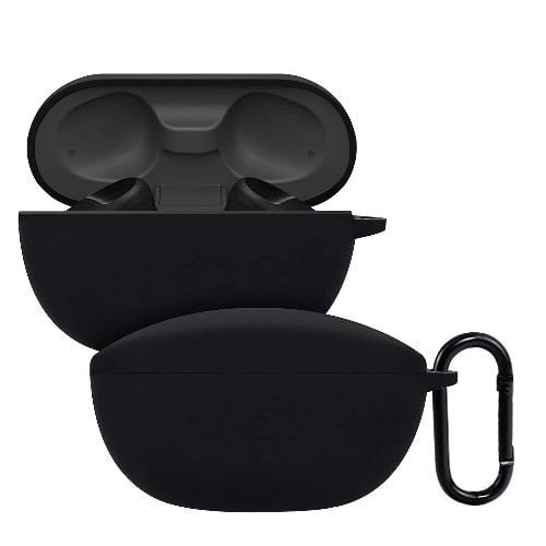 SaharaCase - Silicone Case - for Sony WF-SP800N True Wireless Headphones - Black - Sahara Case LLC