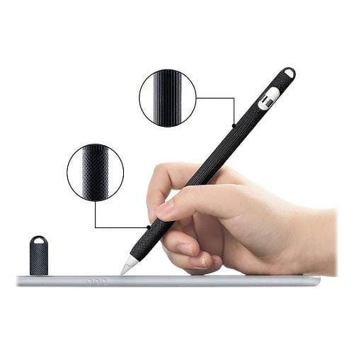SaharaCase - Silicone Grip Case - for Apple Pencil (1st Gen 2015) - Black - Sahara Case LLC