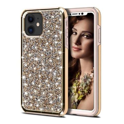 "SaharaCase - Sparkle Series Case - iPhone 11 6.1"" - Champagne Rose Gold - Sahara Case LLC"