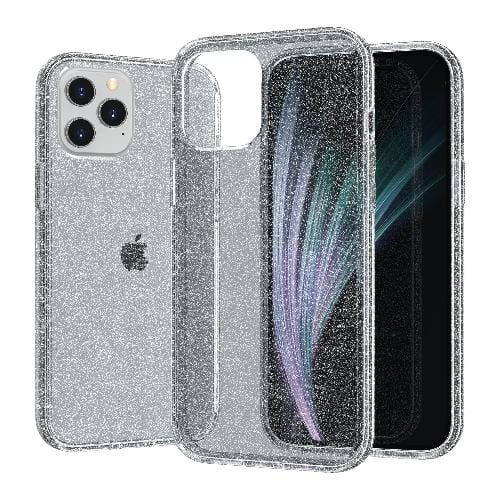 "SaharaCase - Sparkle Series Case - iPhone 12 Pro Max 6.7"" - Clear Black - Sahara Case LLC"