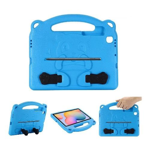 SaharaCase Teddy Bear KidProof Case - for Samsung Galaxy Tab S6 Lite - Blue - Sahara Case LLC