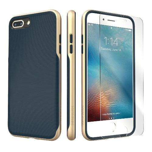 SaharaCase - Trend Series Case - iPhone 8/7 Plus - Night Sky Navy Gold - Sahara Case LLC