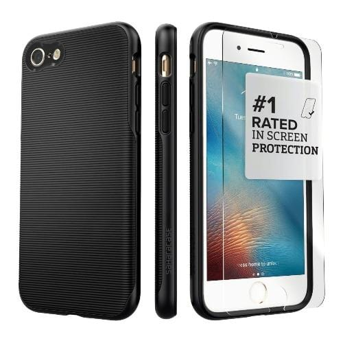 SaharaCase - Trend Series Case - iPhone SE(Gen 2)/ 8/7 - Scorpion Black - Sahara Case LLC
