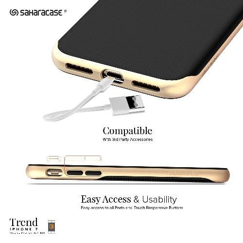 SaharaCase - Trend Series Case - iPhone SE(Gen 2)/ 8/7 - Scorpion Black Gold - Sahara Case LLC