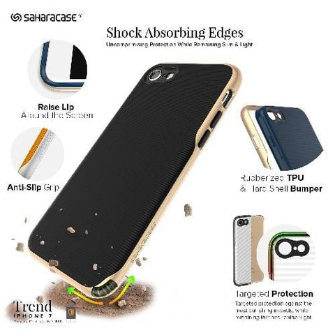 SaharaCase - Trend Series Case - iPhone SE(Gen 2)/ 8/7 - Scorpion Black Gold