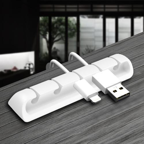 SaharaCase - USB Cable Holder Organizer (4-Pack) - White - Sahara Case LLC