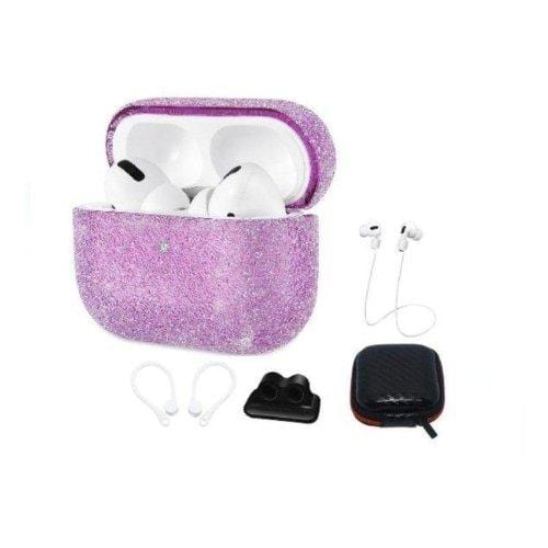 Sparkle Case Apple Airpods Pro Purple - Sahara Case LLC