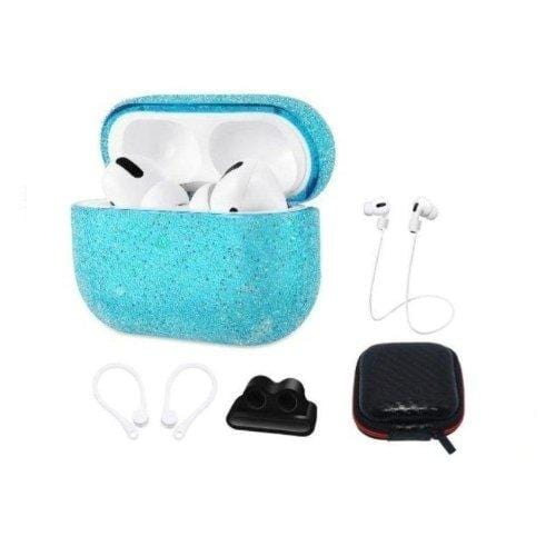 Sparkle Case Apple Airpods Pro Teal - Sahara Case LLC