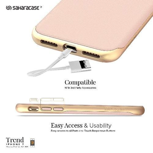 SaharaCase - Trend Series Case - iPhone SE(Gen 2)/ 8/7 - Desert Rose Gold - Sahara Case LLC