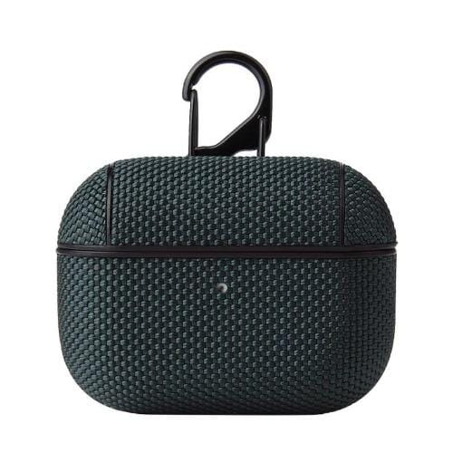 Textured Dark Green AirPods Pro Case - Weave Case Series