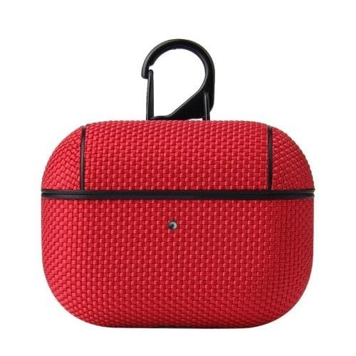 Textured Red AirPods Pro Case - Textured Weave Case Series