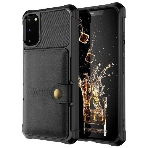 SaharaCase - Wallet Credit Card Case - Galaxy S20 - Scorpion Black - Sahara Case LLC