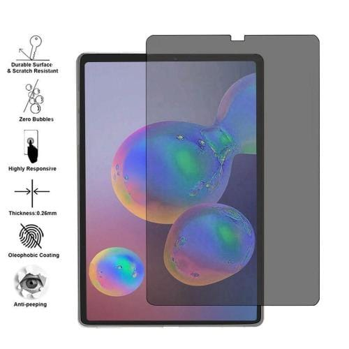 ZeroDamage - Galaxy Tab S6 Lite - Tempered Privacy Glass Screen Protector - Sahara Case LLC