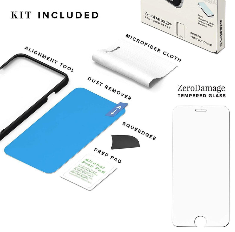 ZeroDamage Glass Screen Protector Kit - iPhone 8/7/6 - Sahara Case LLC