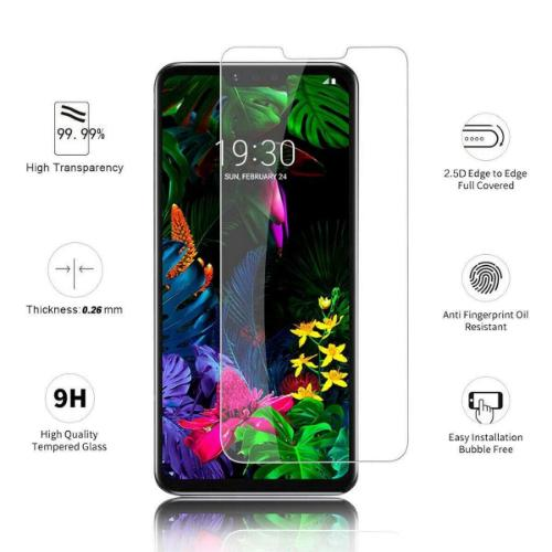 ZeroDamage Glass Screen Protector LG G8 ThingQ - Clear - Sahara Case LLC
