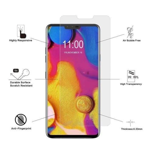 ZeroDamage Glass Screen Protector - LG V40 ThinQ - Clear - Sahara Case LLC