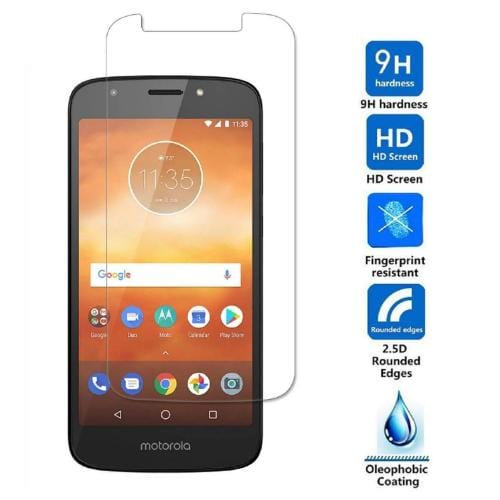 ZeroDamage Glass Screen Protector - Motorola E5 Play - Clear - Sahara Case LLC
