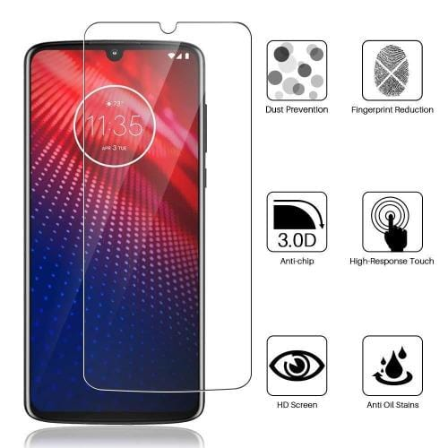 ZeroDamage Glass Screen Protector - Motorola Z4 and Z4 Play - Sahara Case LLC