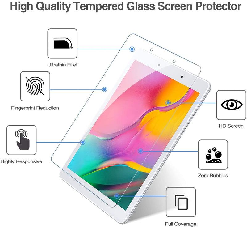 ZeroDamage Glass Screen Protector - Samsung Galaxy Tab A 8.0 (2019) - T290 - Sahara Case LLC