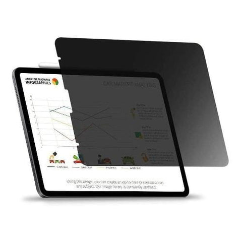 "ZeroDamage - for Apple iPad Pro 12.9"" (2020) - Privacy Tempered Glass Screen Protector"