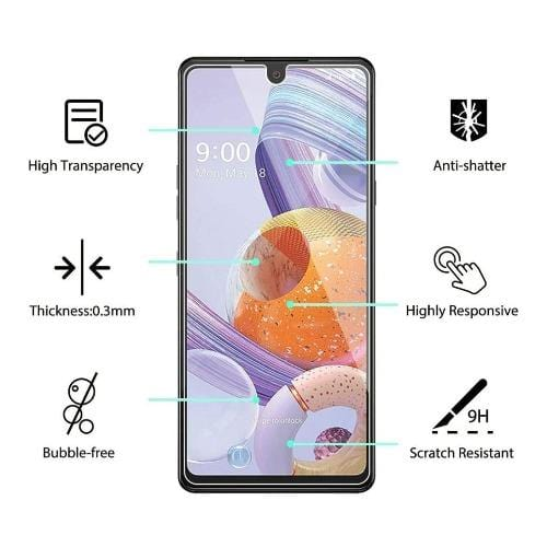 ZeroDamage - LG Stylo 6 - Tempered Glass Screen Protector - Sahara Case LLC