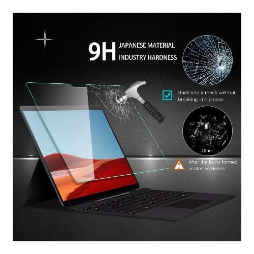ZeroDamage - Microsoft Surface Pro X - Tempered Glass Screen Protector - Sahara Case LLC