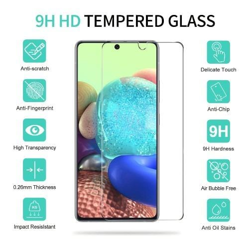 ZeroDamage - Samsung Galaxy A71 5G - Tempered Glass Screen Protector - Sahara Case LLC