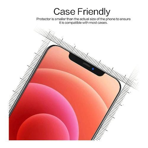"ZeroDamage - Tempered Glass Screen Protector - iPhone 12 Mini 5.4"" - Sahara Case LLC"