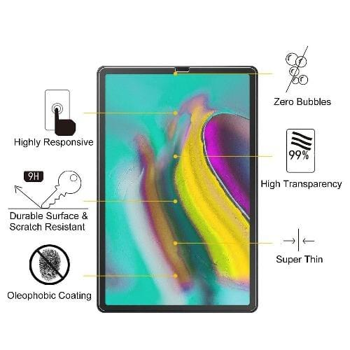 ZeroDamage Tempered Glass Screen Protector - Samsung Tab S6 & S5e - Sahara Case LLC