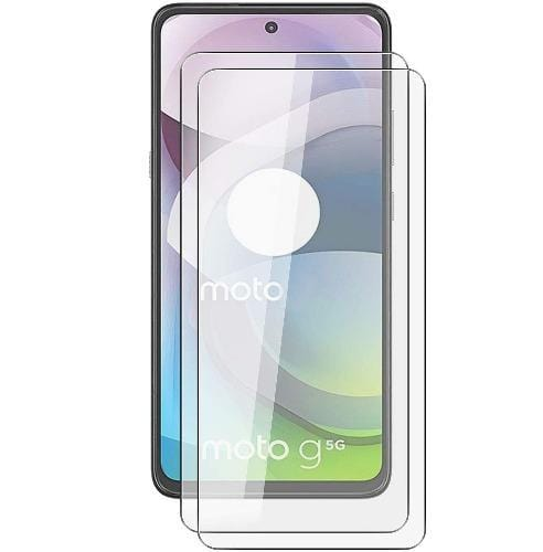 ZeroDamage - Ultra Strong+ HD Glass Screen Protector for Motorola One 5G Ace (2-Pack) - Sahara Case LLC