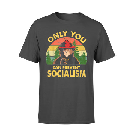Only You Can Prevent Socialism Bear Camping Vintage funny T-Shirt - Standard T-shirt