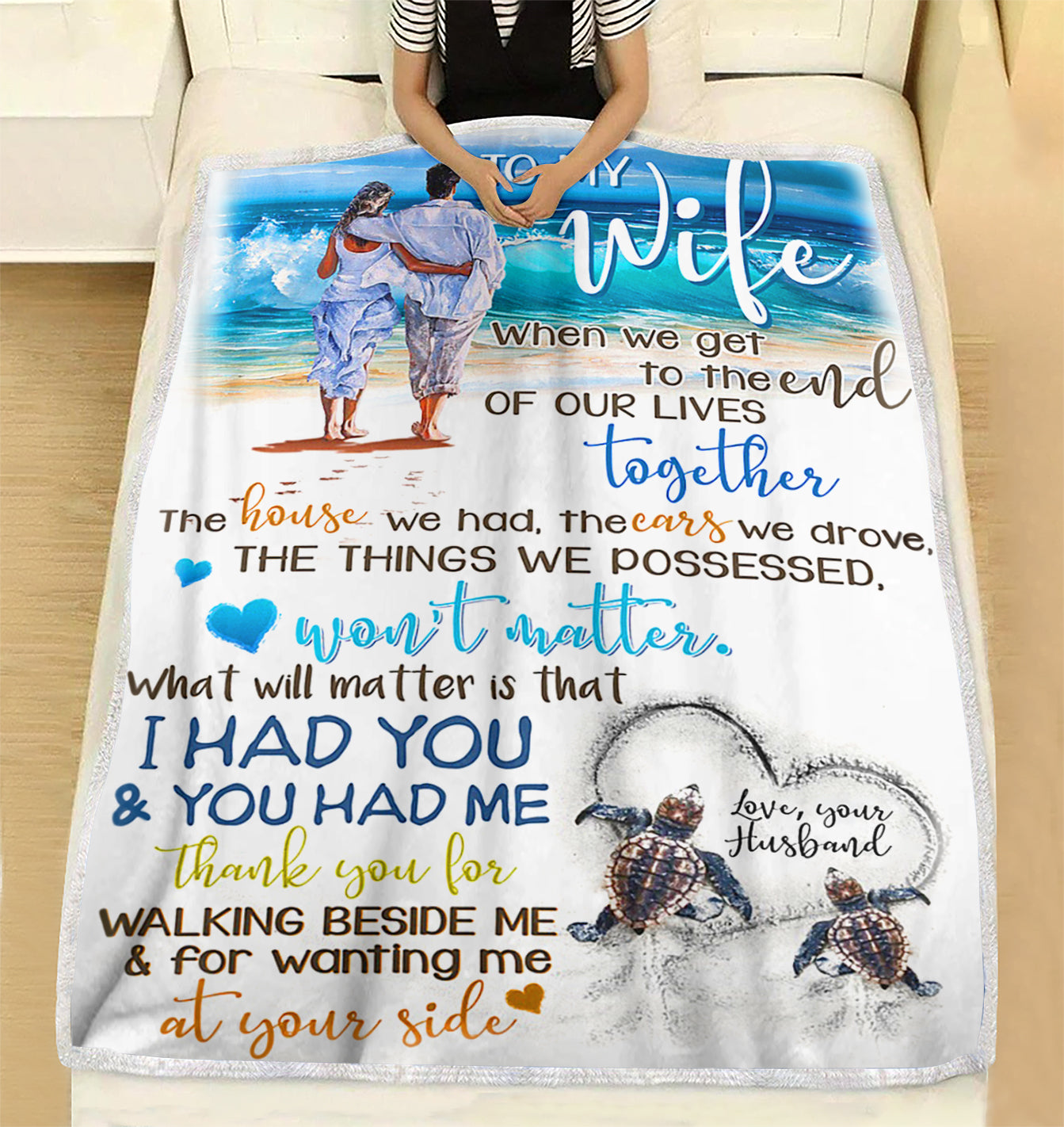 Custom Blanket To My Wife Blanket Perfect Gift For Wife